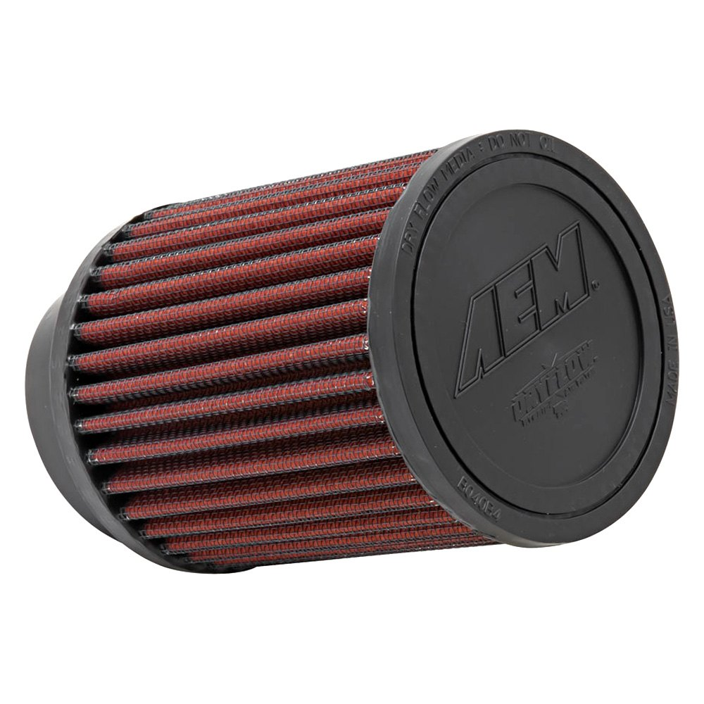 AEM - DryFlow Round Straight Red Air Filter